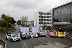 Maxime Martin, BMW Team RBM; Bruno Spengler, BMW Team RBM; Tom Blomqvist, BMW Team RBM; Marco Wittma