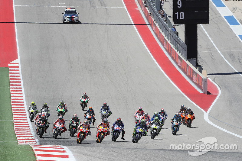 Start: Marc Marquez, Repsol Honda Team leads