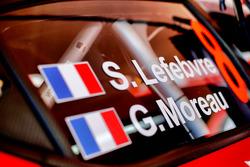 Détail de la voiture de Stéphane Lefebvre, Gabin Moreau, Citroën C3 WRC, Citroën World Rally Team