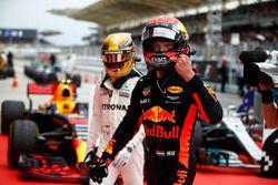 Max Verstappen, Red Bull Racing, racewinnaar, viert feest in Parc Ferme