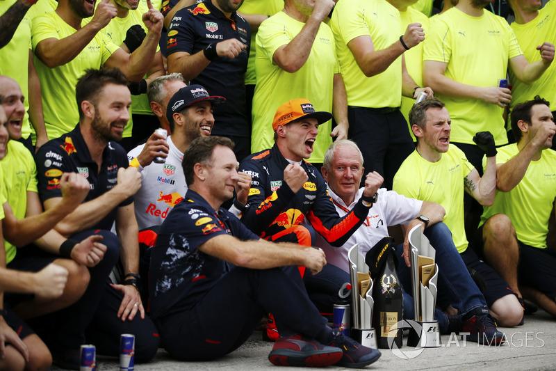 Perayaan kemenangan Red Bull Racing