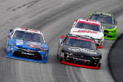 Erik Jones, Joe Gibbs Racing Toyota and Justin Allgaier, JR Motorsports Chevrolet