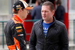 Max Verstappen, Van Amersfoort Racing Dallara F312 - Volkswagen avec son père Jos Verstappen