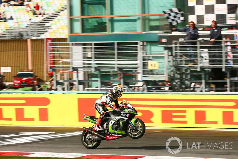 Il Campione 2017 Jonathan Rea, Kawasaki Racing conquista la vittoria