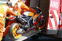 Marquez's crashed Honda