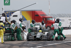Spencer Pigot, Ed Carpenter Racing Chevrolet pit stop