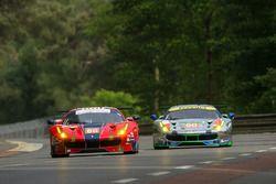 #65 Scuderia Corsa Ferrari 488 GTE: Christina Nielsen, Alessandro Balzan, Bret Curtis, #60 Clearwater Racing Ferrari 488 GTE: Richard Wee, Alvaro Parente, Hiroki Katoh