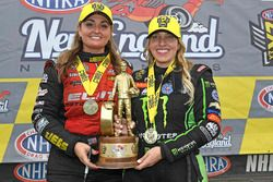 Top Fuel winner Brittany Force, Pro Stock winner Erica Enders-Stevens