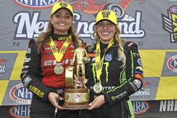 Top Fuel winner Brittany Force, Pro Stock winner Erica Enders-Stevens