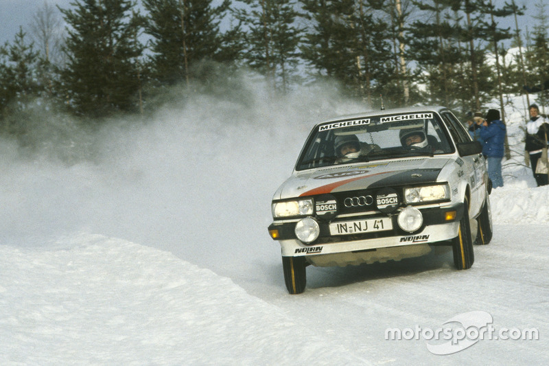 Stig Blomqvist, Bjorn Cederberg, Audi 80 Quattro