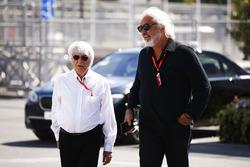 Bernie Ecclestone, Chairman Emeritus of Formula 1, Flavio Briatore