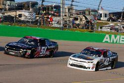 Tyler Reddick, Chip Ganassi Racing Chevrolet and Jeremy Clements, Jeremy Clements Racing Chevrolet