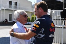 Bernie Ecclestone, Christian Horner, director del equipo Red Bull Racing