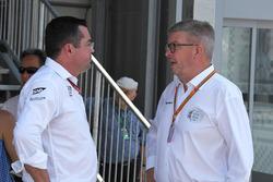 Eric Boullier, McLaren Racing Director and Ross Brawn, Formula One Managing Director of Motorsports