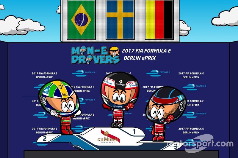 Primera carrera del ePrix de Berlín 2016/2017 según los MinEDrivers