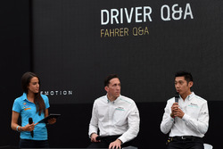Jaguar Racing personnel entertain the guests in the eMotion Club