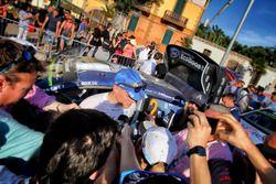 Rally winner Ott Tanak, M-Sport World Rally Team, Ford Fiesta WRC talks with the media