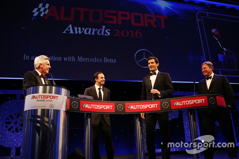 Felipe Massa, Mark Webber y el CEO de McLaren, Zak Brown