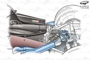Jaguar R4 2003 rear suspension detail