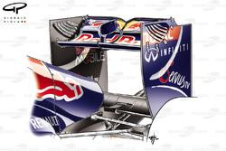 Aileron arrière de la Red Bull RB7