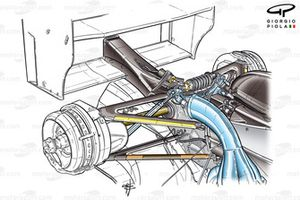 Minardi PS04B 2004 rear suspension overview