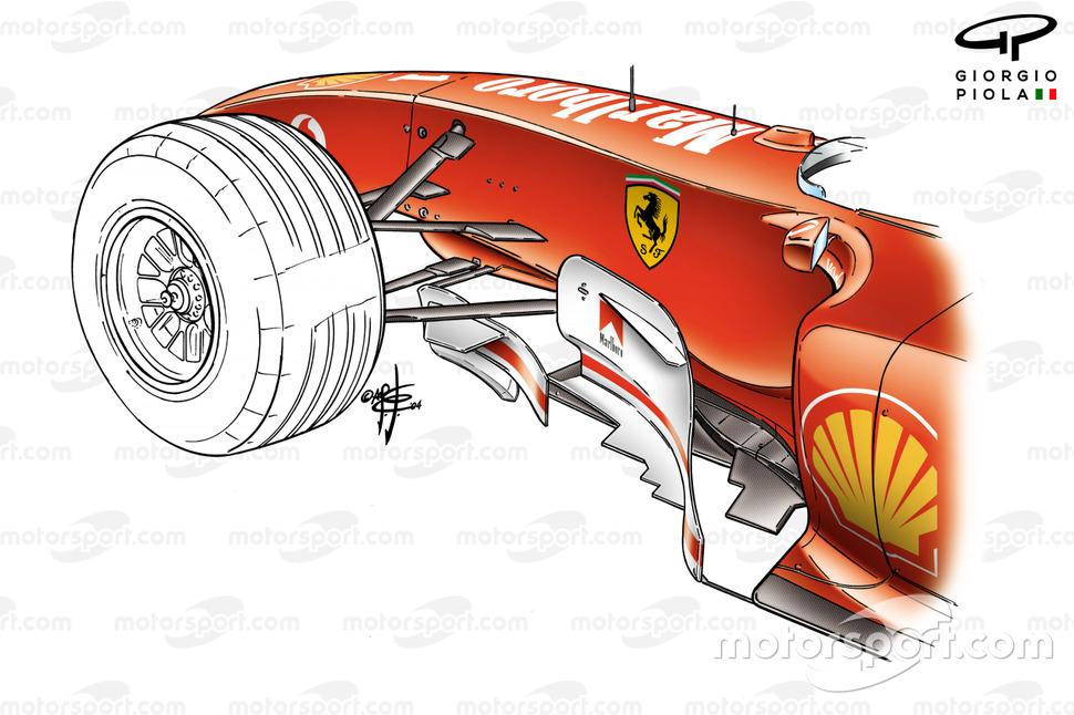 Ferrari F2004 (655) 2004, bargeboard di Monaco