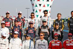 Pascal Wehrlein, Manor Racing and Esteban Ocon, Manor Racing at the end of season group drivers grou