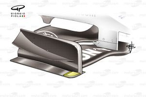 BAR 006 front wing footplate