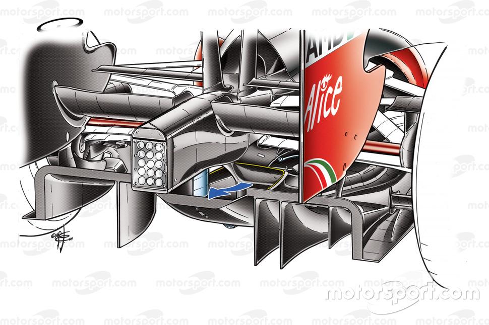 Detalle del difusor del Ferrari F60 (660) 2009