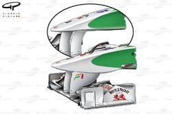 Force India VJM03 nose comparison