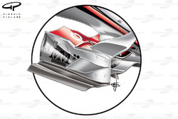 McLaren MP4-22 2007 front wing endplate