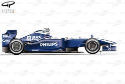 Vue latérale de la Williams FW31