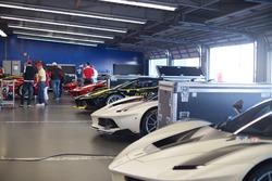 Un garage Ferrari