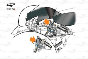 McLaren MP4-15 2000 rear suspension rocker detail