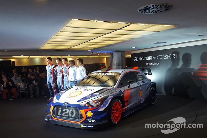 Hayden Paddon, Dani Sordo, Thierry Neuville, Hyundai Motorsport unveil the 2017 Hyundai i20 Coupe WRC