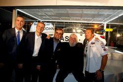 Ed Bennett, Chief Executive Officer INSA; Jens Marquardt, BMW Motorsport Director; Ludwig Willisch, BMW North America Chief; John Baldessari; Bill Auberlen