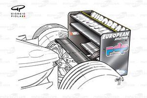 Minardi PS01 2001 rear wing
