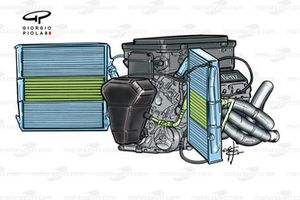 McLaren MP4-15 2000 engine and cooling system
