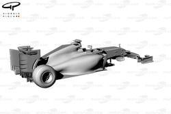 Ferrari F14 T rear 3/4 view no front suspension or wheels