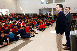 Jimmie Johnson, Hendrick Motorsports Chevrolet and crew chief Chad Knaus at Doral Academy Red Rock