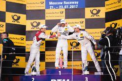 Podium : le vainqueur Maro Engel, Mercedes-AMG Team HWA, Mercedes-AMG C63 DTM, le deuxième, Mattias Ekström, Audi Sport Team Abt Sportsline, Audi A5 DTM, le troisième, Bruno Spengler, BMW Team RBM, BMW M4 DTM
