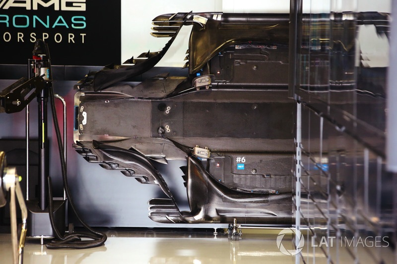 A floor in the Mercedes garage