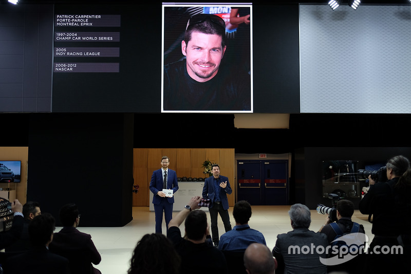 Patrick Carpentier during the Jaguar conference