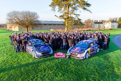 Jubelstimmung: Sébastien Ogier, Julien Ingrassia, M-Sport, Ford Fiesta WRC; Ott Tänak, Martin Järveo