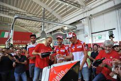 Danilo Petrucci, Pramac, Claudio Domenicali, AD Ducati, Andrea Dovizioso, Ducati, MIchele Pirro, collaudatore Ducati e Gigi Dall'Igna