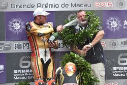 Podium: race winner Peter Hickman, BMW