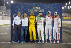 Todos los campeones del mundo de WTCC de FIA, Roberto Ravalia, Andy Prilaux, Gabriele Tarquini, LADA