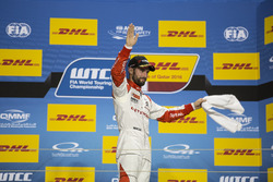 Podium: third place José María López, Citroën World Touring Car Team, Citroën C-Elysée WTCC