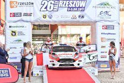 Bryan Bouffier e Gilbert Dini, Ford Fiesta R5, Gemini Clinic Rally Team
