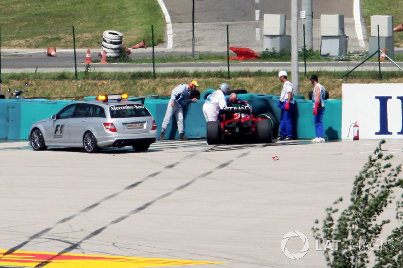 Hungaroring 2009 : accident de Felipe Massa